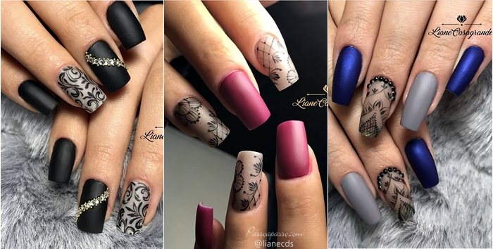 Unhas arabesco: As mais lindas nail art com arabescos (Tutoriais e 60 fotos)