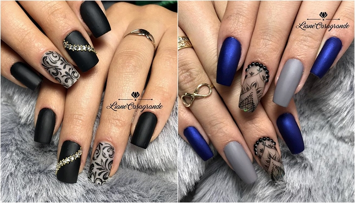 Unhas arabesco: Unhas decoradas com arabesco