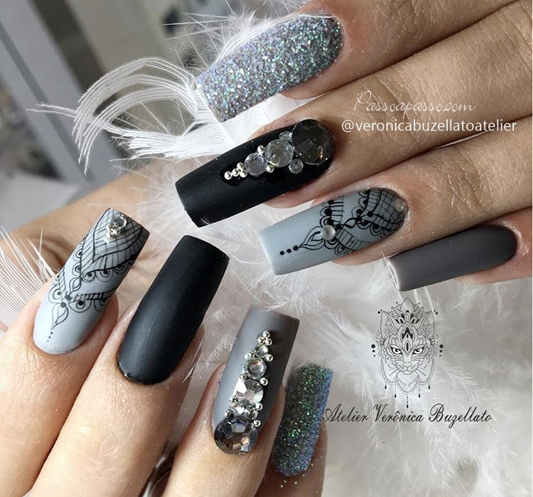 Unhas arabesco: Lindas nail art com arabescos