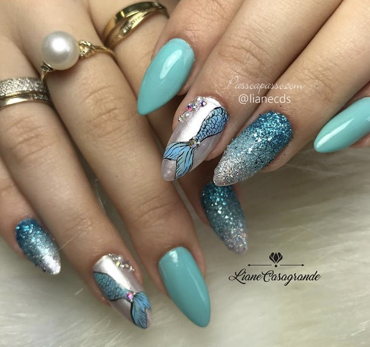 Unhas stiletto decoradas - Stiletto Nails Designs - Unhas estileto